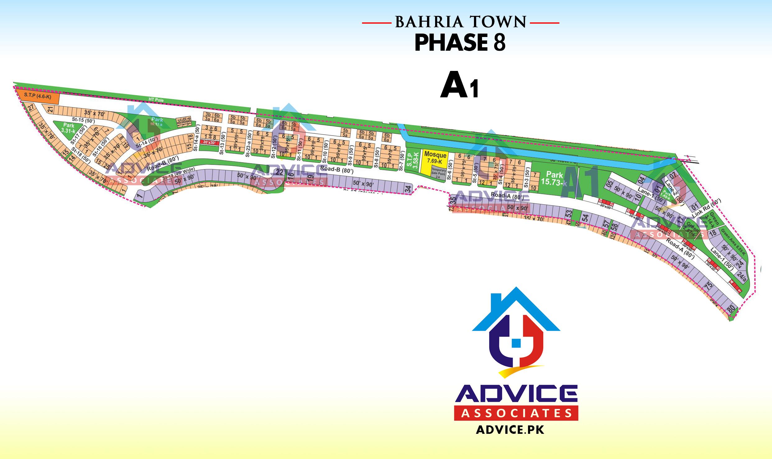 Bahria Town Phase 8 A1 Block