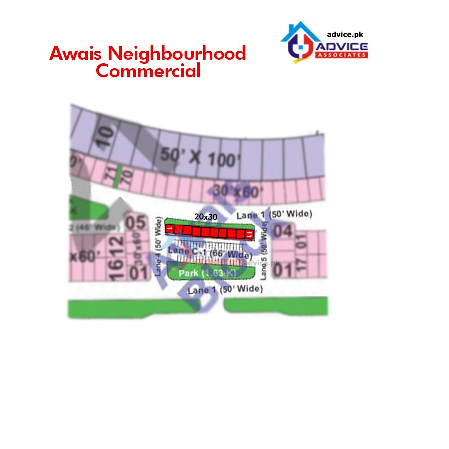 Bahria Town Awais Block Map