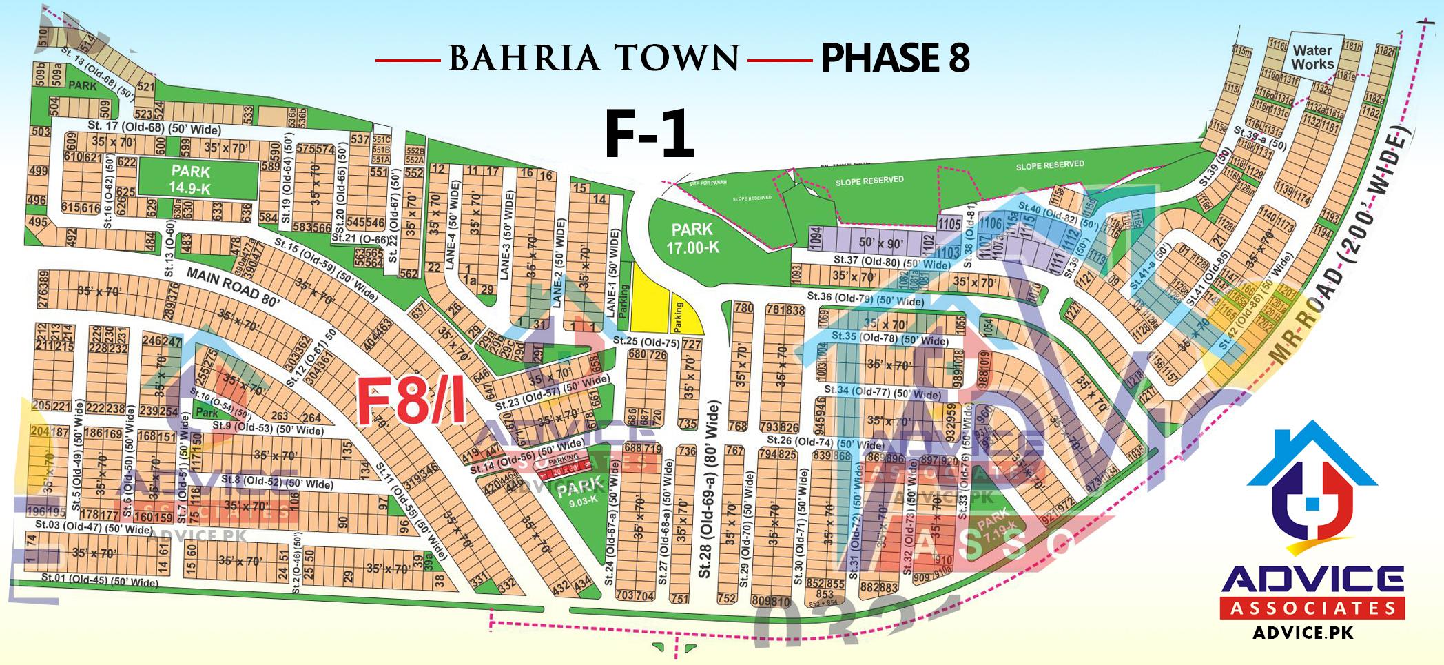 Bahria Town Phase 8 F1 Block