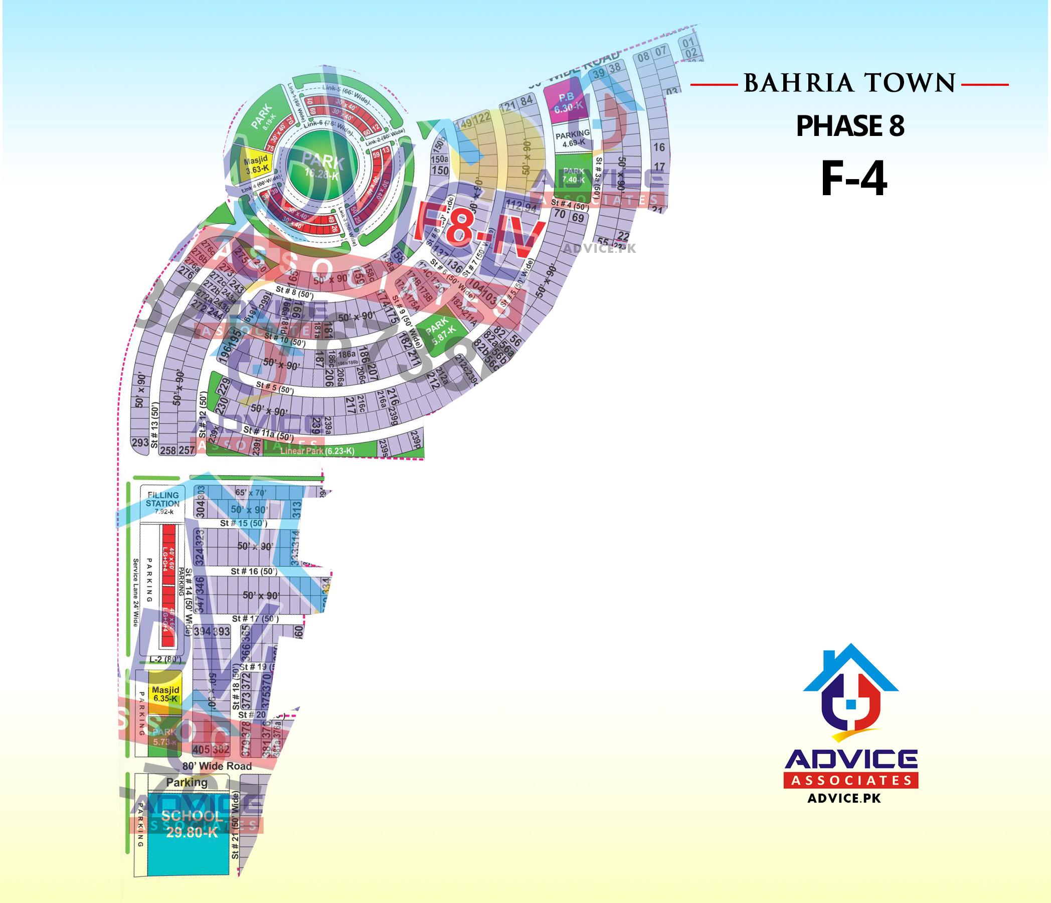Bahria Town Phase 8 F4 Block