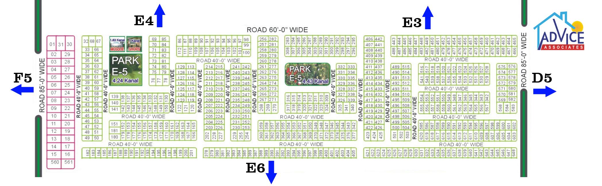 Fda city E5 Map