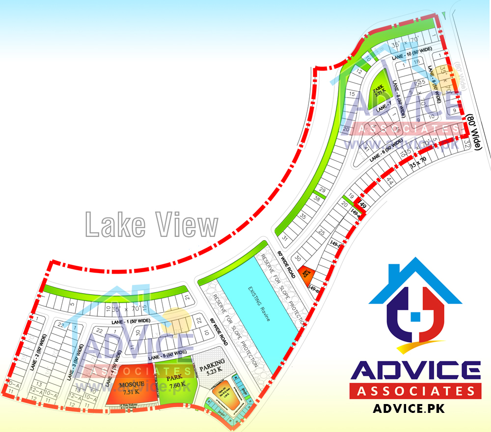 Bahria Town Phase 8 Lake View Block