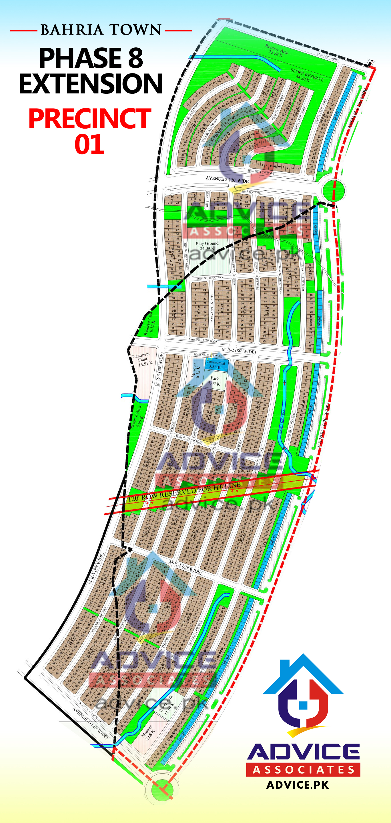 Bahria Town Phase 8 Ext Precinct 1 Map