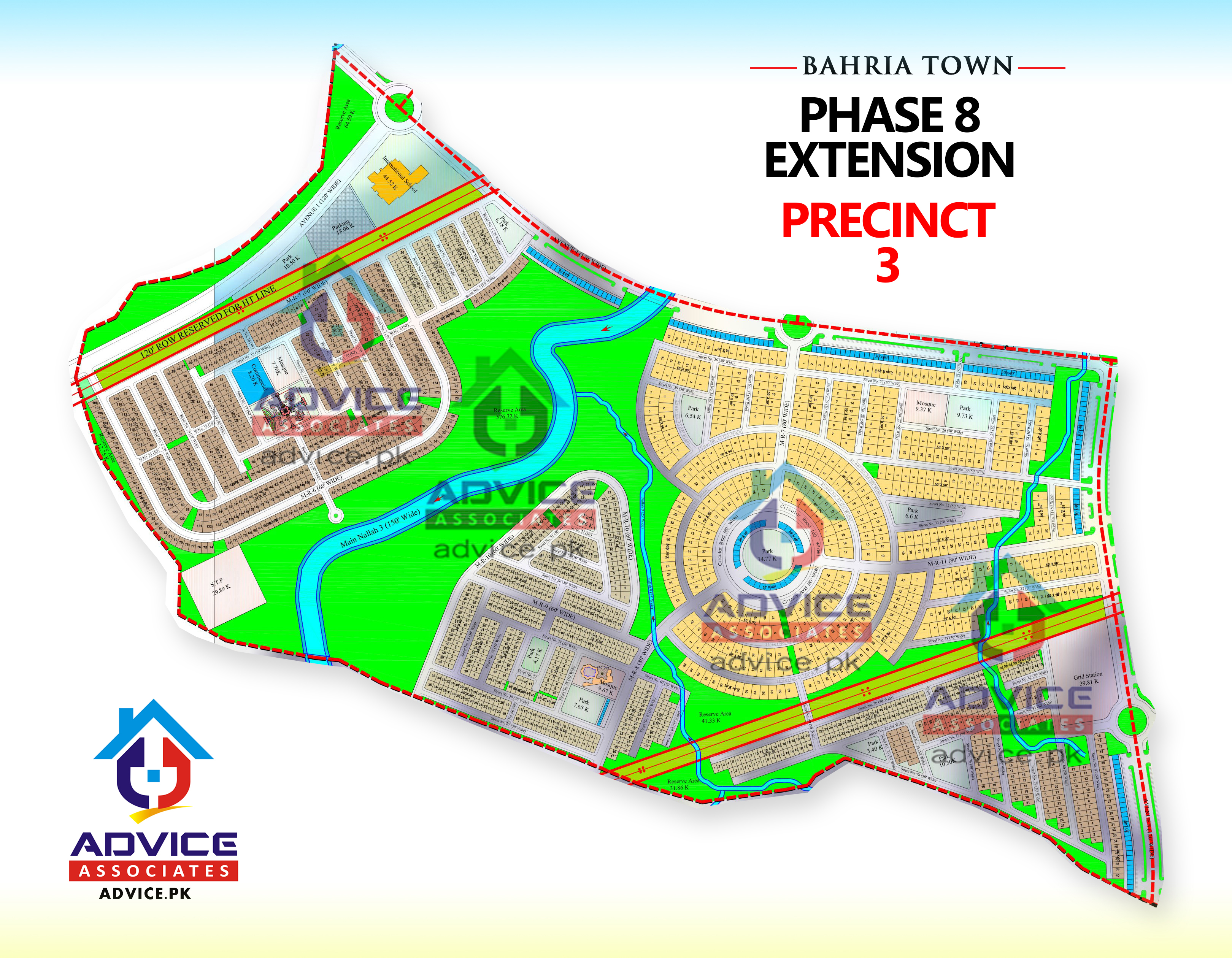 Bahria Town Phase 8 Ext Precinct 3 Map