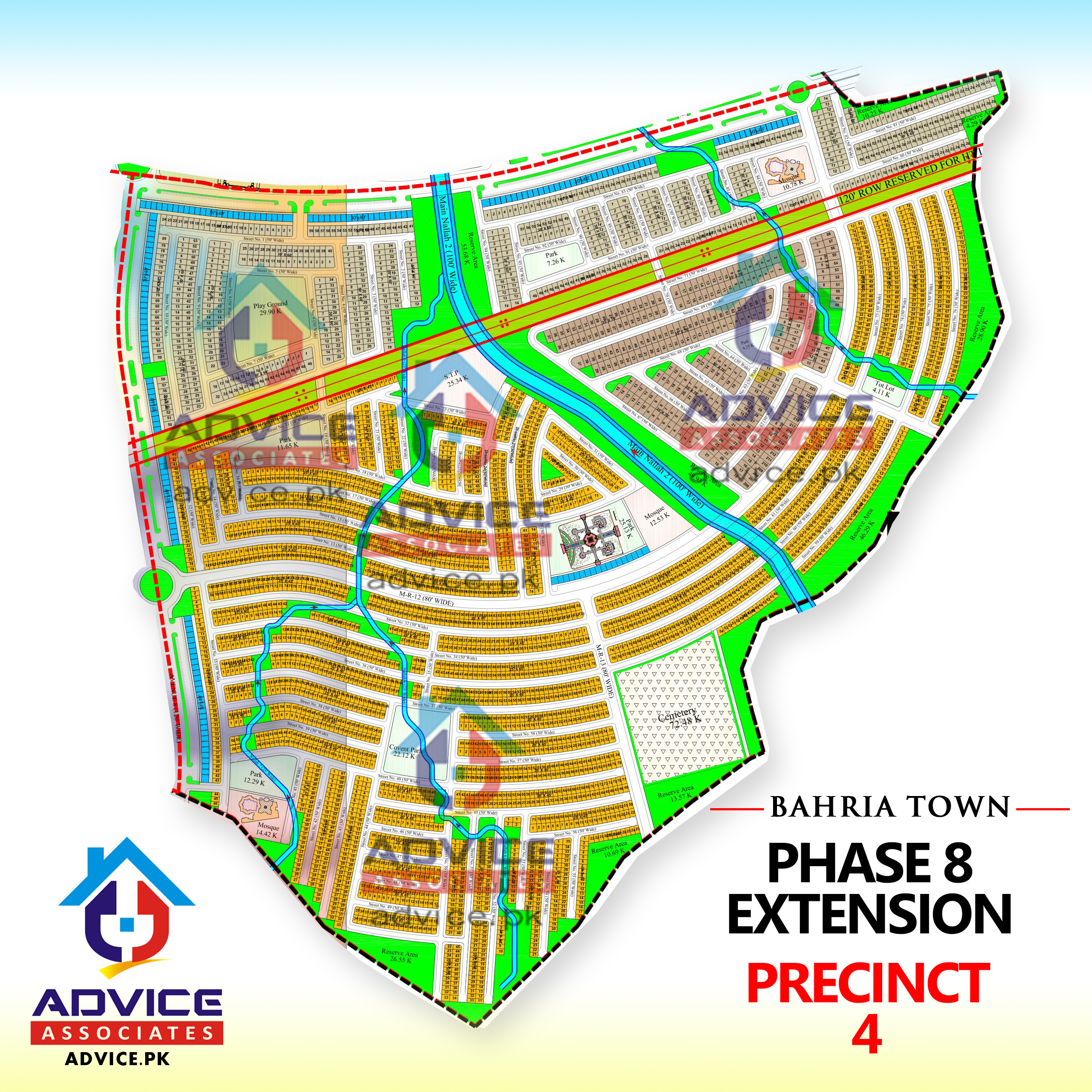 Bahria Town Phase 8 Ext Precinct 4 Map
