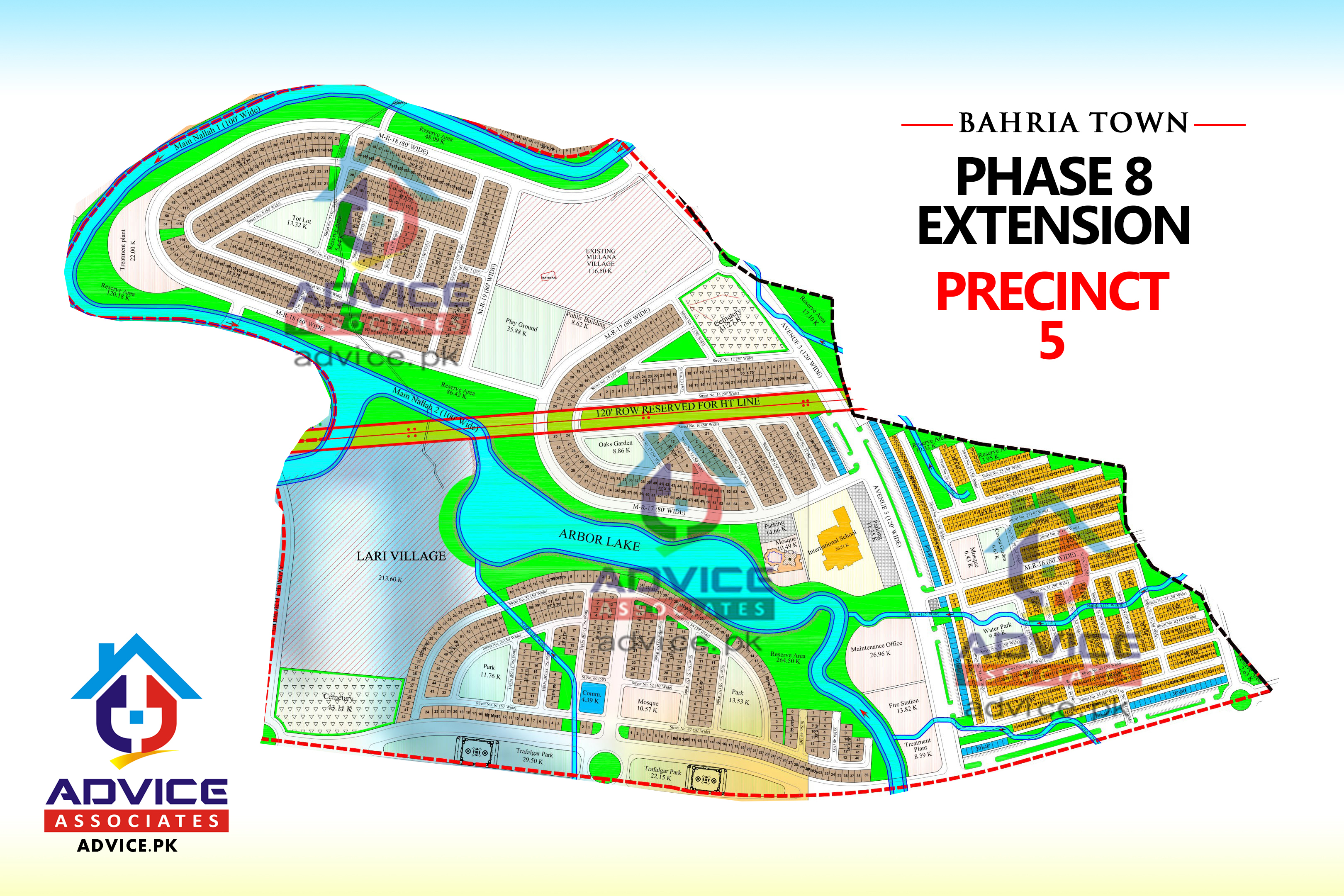 Bahria Town Phase 8 Ext Precinct 5 Map