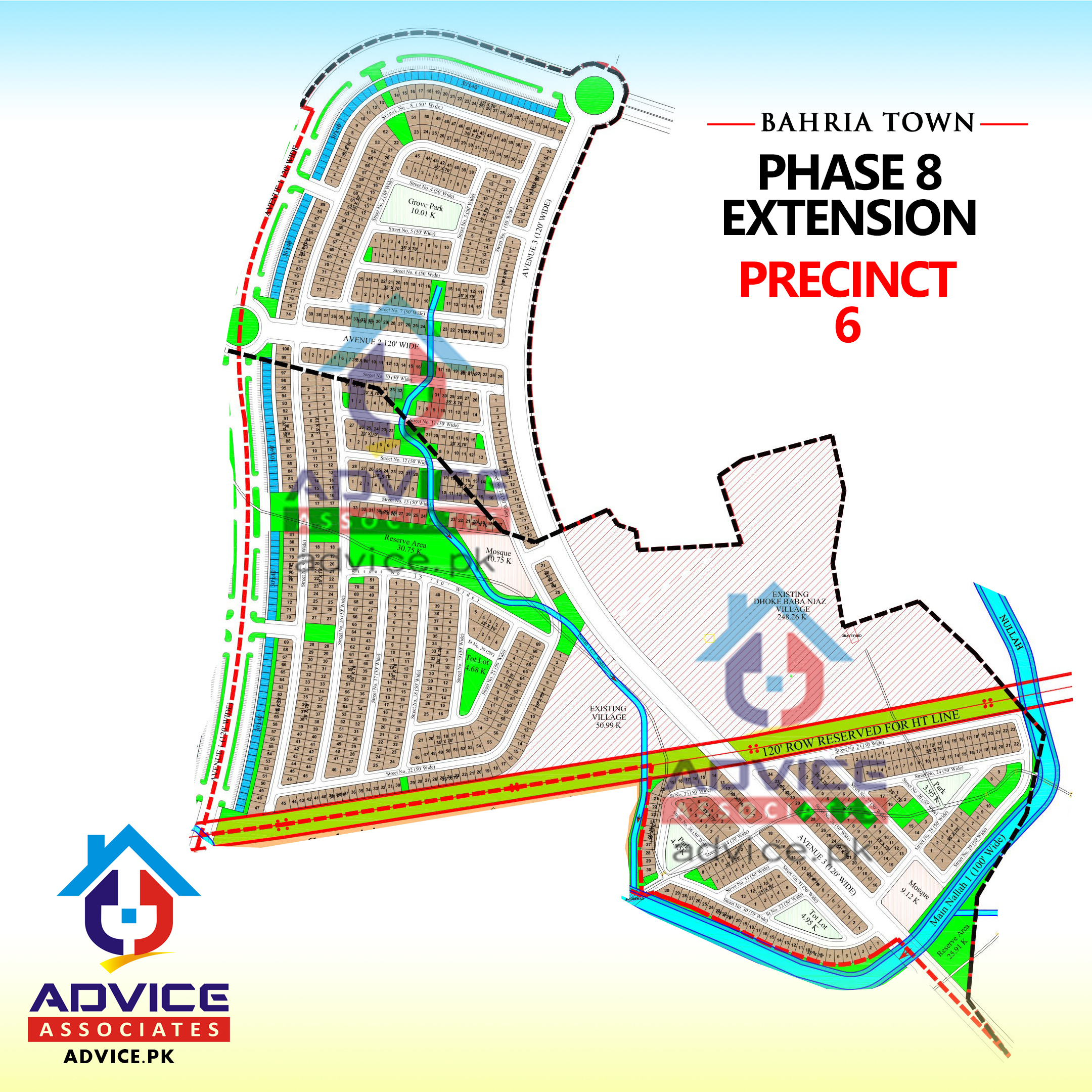 Bahria Town Phase 8 Ext Precinct 6 Map
