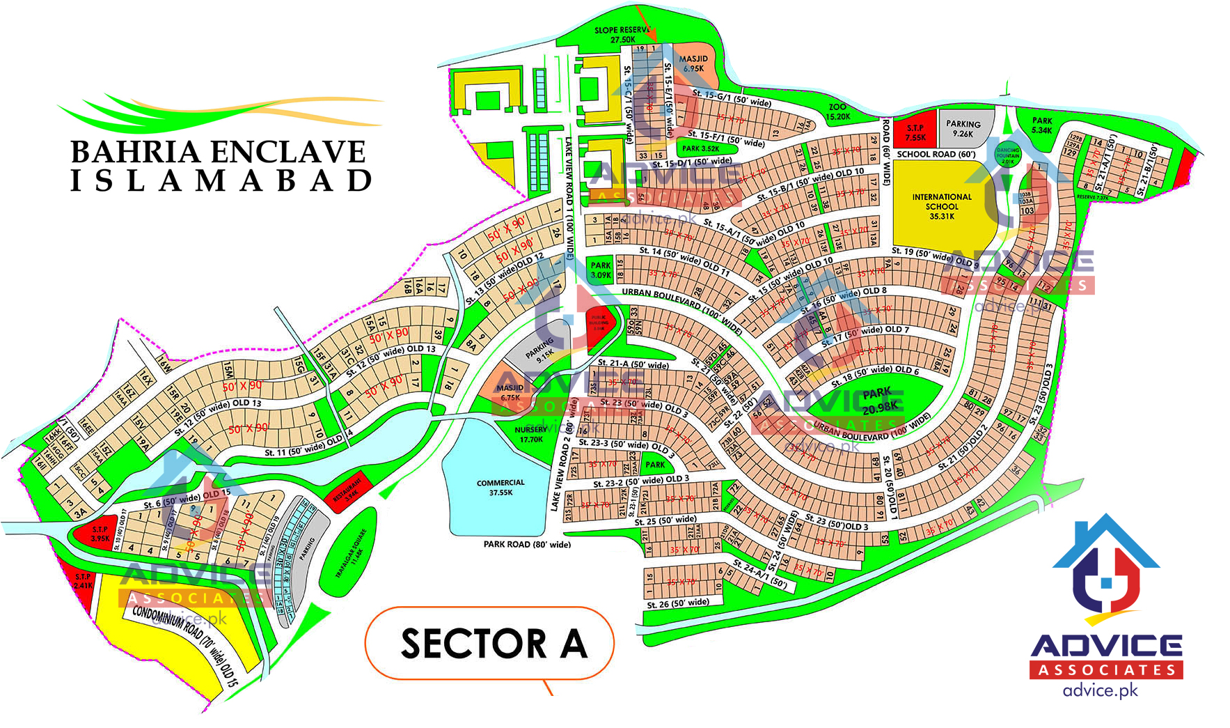 Bahria Enclave Sector A Map
