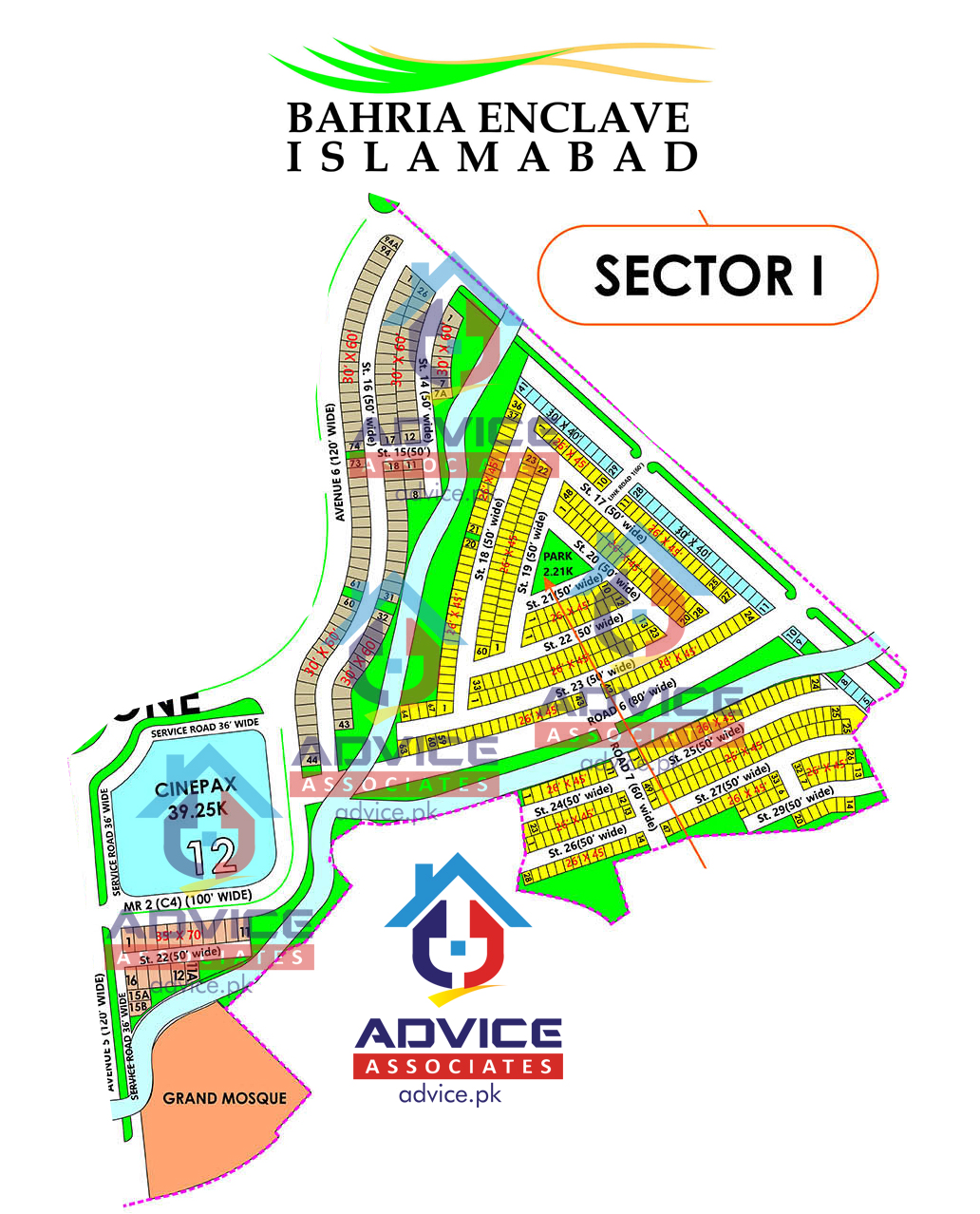 Bahria Enclave Sector I Map