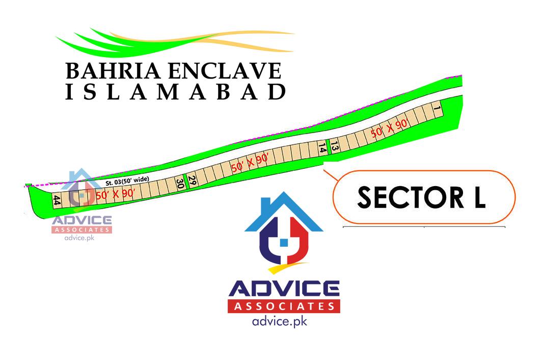 Bahria Enclave Sector L Map
