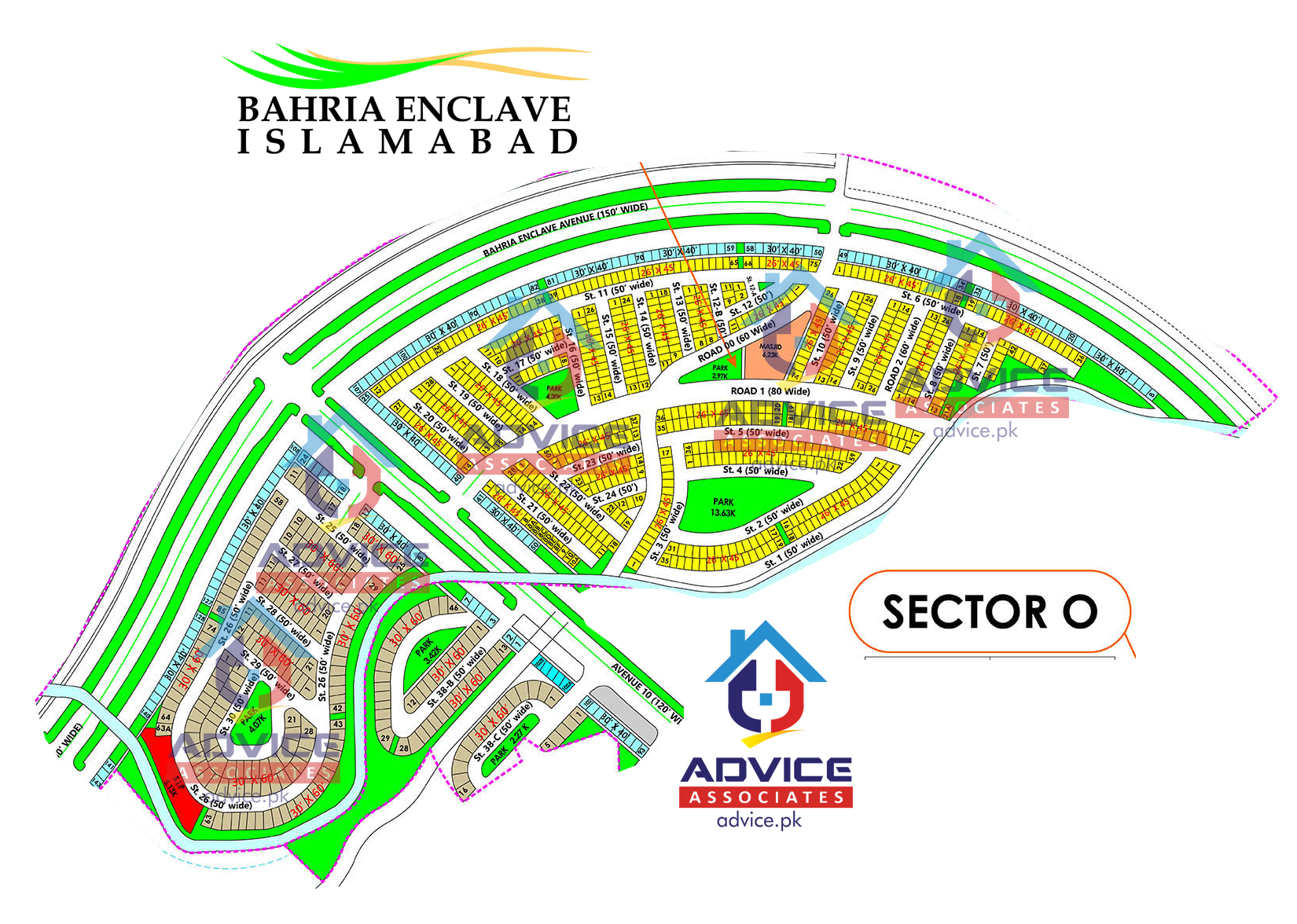 Bahria Enclave Sector O Map