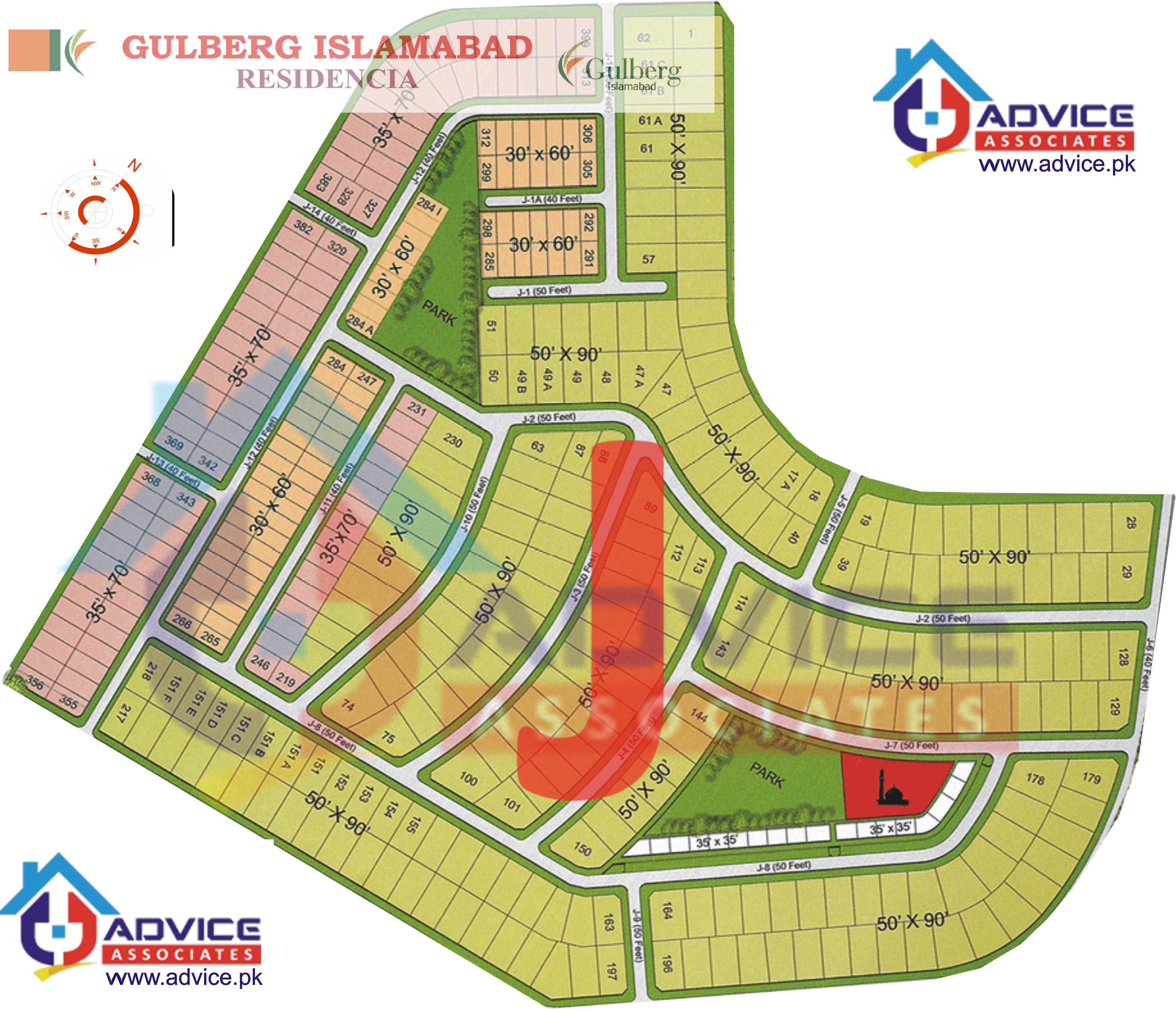 Gulberg Residentia Block J