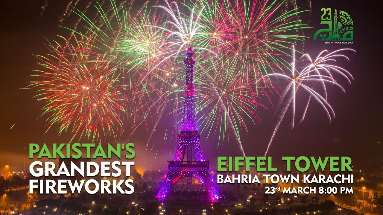 Pakistan's Grandest Firework At Eiffel Tower Karachi